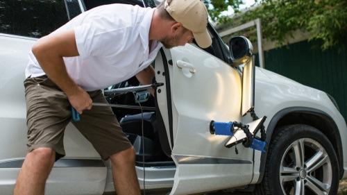 Car door dent repair breakdown